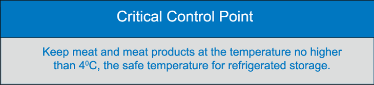 Critical Control Point for chilled meat